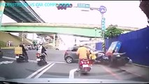 car crash compilation pedestrian and vehicle traffic accident on the road with camera