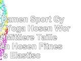 Erica Damen Sport Gym Fuß Yoga Hosen Workout Mittlere Taille Laufen Hosen Fitness