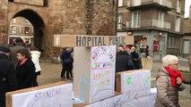 Un rassemblement pour défendre l'hôpital de Vire