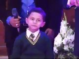 cut boy singing song dedicated for father
