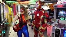Iron Man vs Spiderman Arcade Battle In Real Life   Superhero Movie! | Superheroes | Spiderman | Superman | Frozen Elsa | Joker