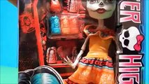 Monster High Exclusive Scarnival Dolls Draculaura Skelita & Clawd Deboxing Toy Review