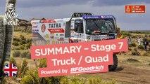 Summary - Truck/Quad - Stage 7 (La Paz / Uyuni) - Dakar 2018