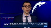 i24NEWS DESK    Chelsea Manning files to run for U.S. senate   Saturday, January 13th 2018