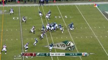 Philadelphia Eagles running back Jay Ajayi goes airborne to pick up a first down