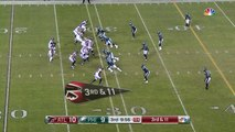 Atlanta Falcons quarterback Matt Ryan rips it to wide receiver Julio Jones for conversion on third-and-long