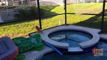 Fin Fun Mermaid and the FREEZING Water - Pool Fun