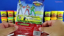 GIANT GREEN RANGER Surprise Egg Play Doh - Mighty Morphin Power Rangers Toys & Surprises