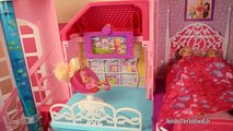 Barbie Malibu Dreamhouse + Mega Bloks Barbie Luxury Mansion +Glam Vacation House -Dollhouse tour