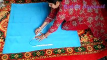tulip shalwar drafting, cutting and stitching in hindi | tulip salwar cutting and stitching
