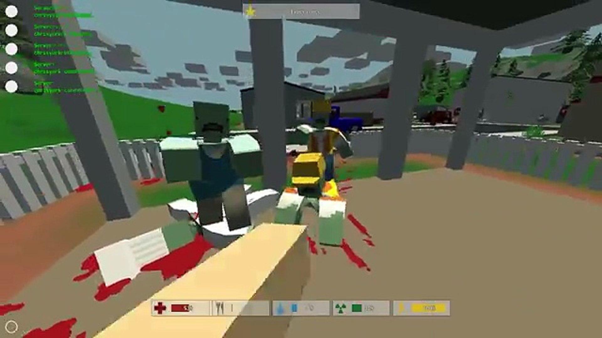 Unturned | Gameplay Part 1 | Minecraft Meets Pixel Gun 3D