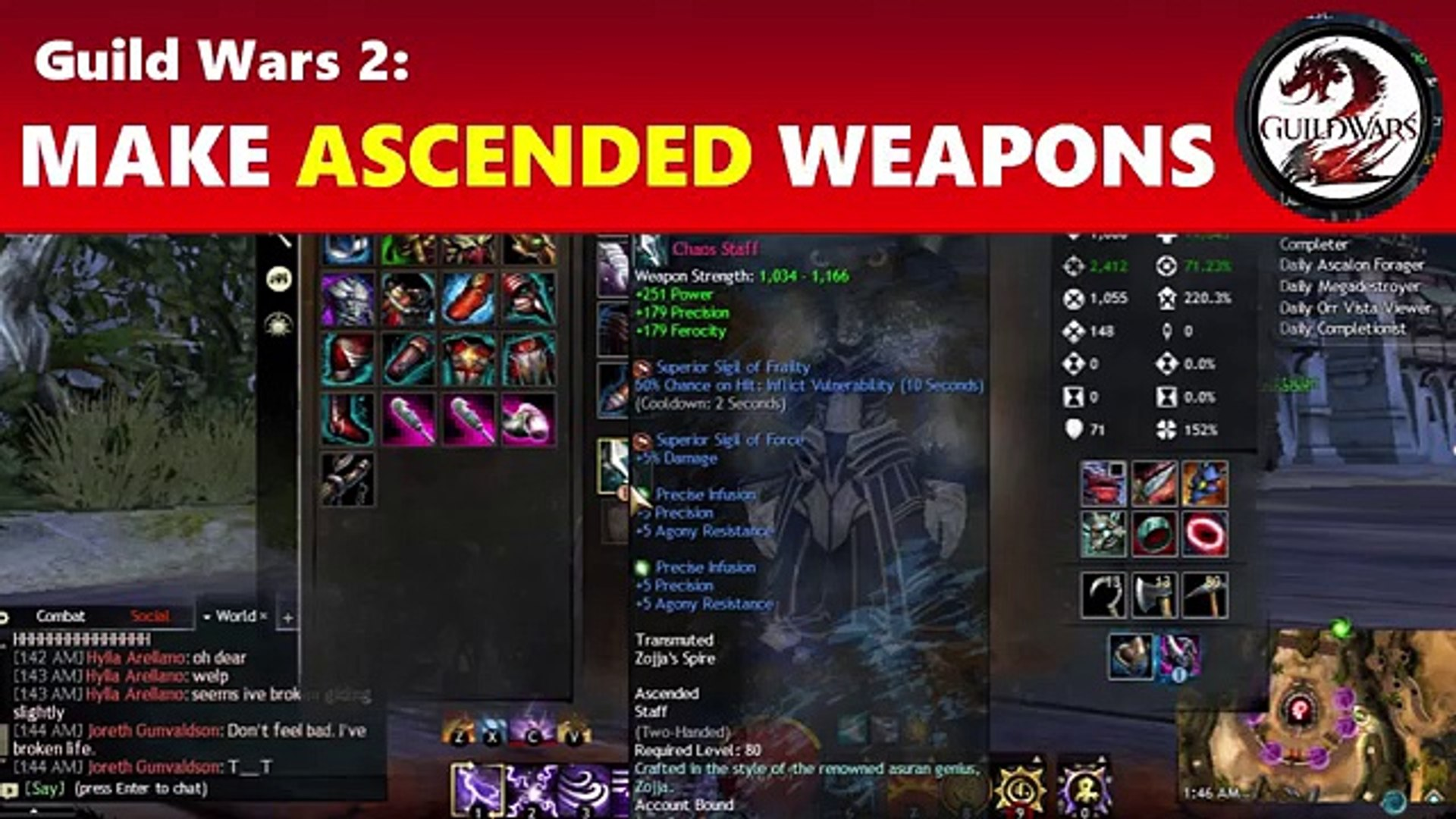 Guild Wars 2: Making Ascended Gear - Weapons