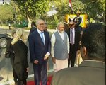 PM Narendra Modi, PM Netanyahu visit Teen Murti Memorial Delhi India