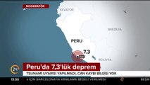 #SONDAKİKA Peru açıklarında 7,3 şiddetinde deprem meydana geldi