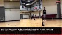 Basket-Ball : Un policier ridiculise un jeune homme avec une feinte (vidéo)