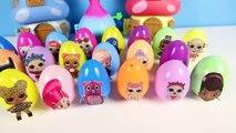 20 Mega Surprise Hatchimals Superhero Eggs, LOL Surprise Dolls, Doc McStuffins, Shimmer Shine Slime