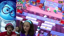 FGTEEV plays DISNEY CROSSY ROAD #9 / ANGRY BIRDS ACTION + MARVEL DEADPOOL w/ M&MS Ouch MashUp Fun!