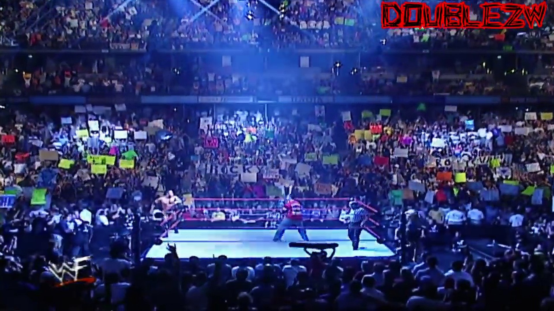 The Rock vs. Shane McMahon - Street Fight - 8-6-2001 Raw Part 1/2