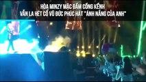 """Hòa Minzy mặc đầm cồng kềnh vẫn la hét cổ vũ Đức Phúc hát """"Ánh nắng của em"""""""