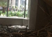 Debris Fills Indonesia Stock Exchange Lobby After Balcony Collapse