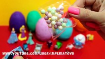 Many Play Doh Kinder Surprise Eggs DISNEY PRINCESS PIXAR CARS SPIDER-MAN HELLO K