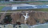 Un avion de Pegasus Airlines chute dans une falaise et est à deux doigts de tomber dans la mer !