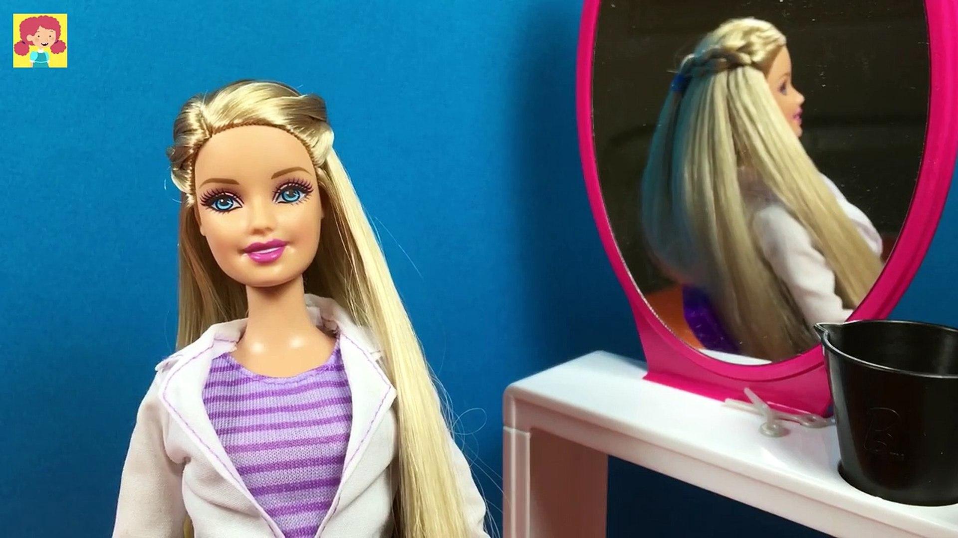 Back To School Hairstyles of Barbie Doll - DIY Barbie Hair Tutorial -  Making Kids Toys