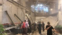 Several Injured As Indonesia Stock Exchange Building Floor Collapses