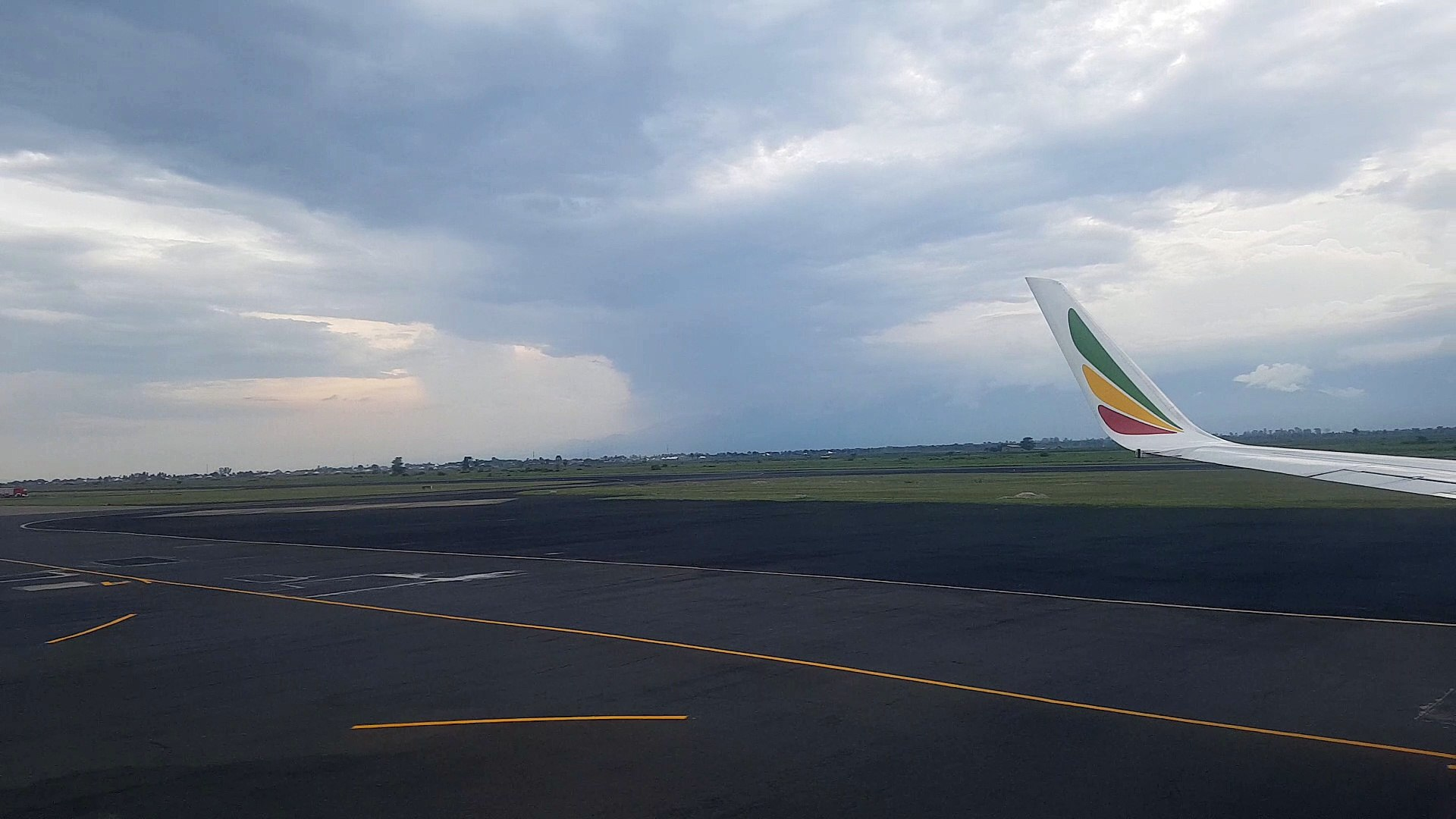 Take off - Flight from Bujumbura, Burundi to Addis Abbeba, Ethiopia with Ethiopian Airlines