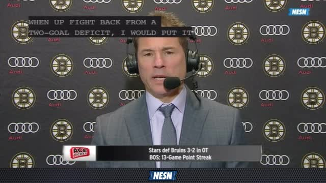 Bruins Overtime Live: Coach Bruce Cassidy Is Pleased Bruins Fight To Continue Point Streak