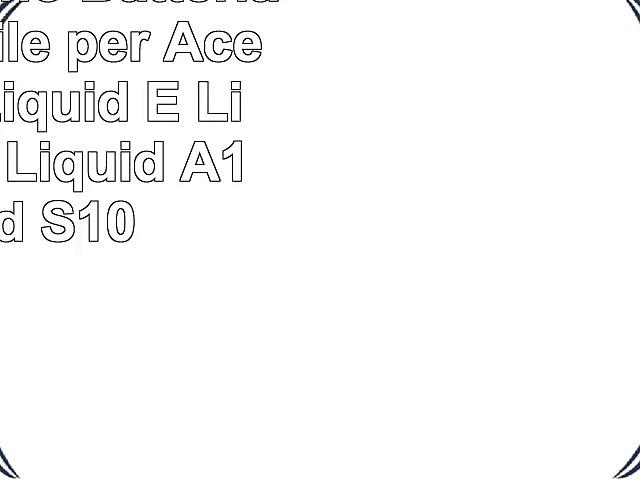 Cameronsino  Batteria compatibile per Acer Liquid Liquid E Liquid E400 Liquid A1 Liquid