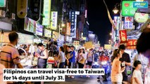 Taiwan: VISA Free to FIlipinos