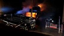 Incendie nocturne à Munster
