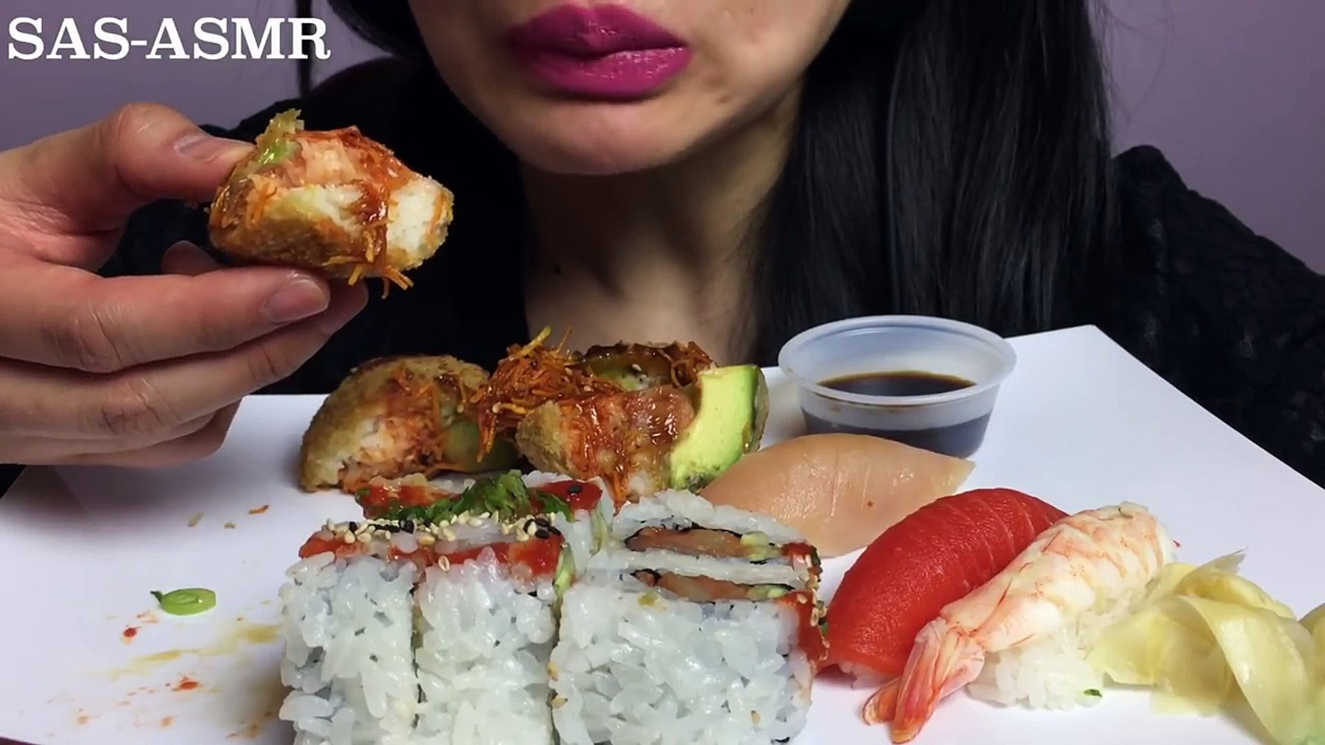 Asmr Sushi Spicy Tuna Sushi Monkey Brain Nigiri Eating Sounds Sas Asmr Video Dailymotion Sas asmr скачать с видео в mp4, flv вы можете скачать m4a аудио формат. asmr sushi spicy tuna sushi monkey brain nigiri eating sounds sas asmr