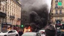 Les images du bus en feu en plein centre de Paris