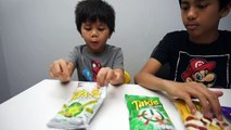 FILIPINO-CANADIAN KIDS TRY MEXICAN TAKIS CHIPS Takis Challenge SPICY CHIPS REVIEW