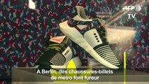 A Berlin, des chaussures-billets de métro font fureur