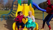 #14Frozen Elsa & Belle COTTON BALL CHALLENGE w  Spiderman Maleficent Toy Fun Superhero in real life | Superheroes | Spiderman | Superman | Frozen Elsa | Joker