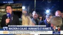 Calais: Emmanuel Macron défend sa politique d'immigration