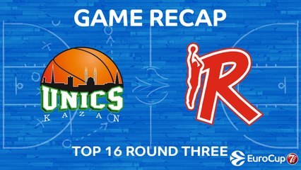 7Days EuroCup Highlights Top 16, Round 3: UNICS 69-71 Reggio Emilia