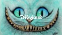 Como dibujar el gato sonriente - Explicado paso a paso - Dibujados