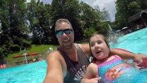 Girls Swim in The Swimming Pool - Kids Prank Dad - Family Fun