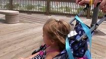 Girls Swim at The Beach - Kids Swimming in The Pool - Boardwalk Fun - Funny Prank