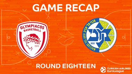 EuroLeague 2017-18 Highlights Regular Season Round 18 video: Olympiacos 94-64 Maccabi