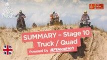 Summary - Truck/Quad - Stage 10 (Salta / Belén) - Dakar 2018