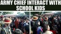 Army Chief General Bipin Rawat meet school children during Army Day, Watch   Oneindia News
