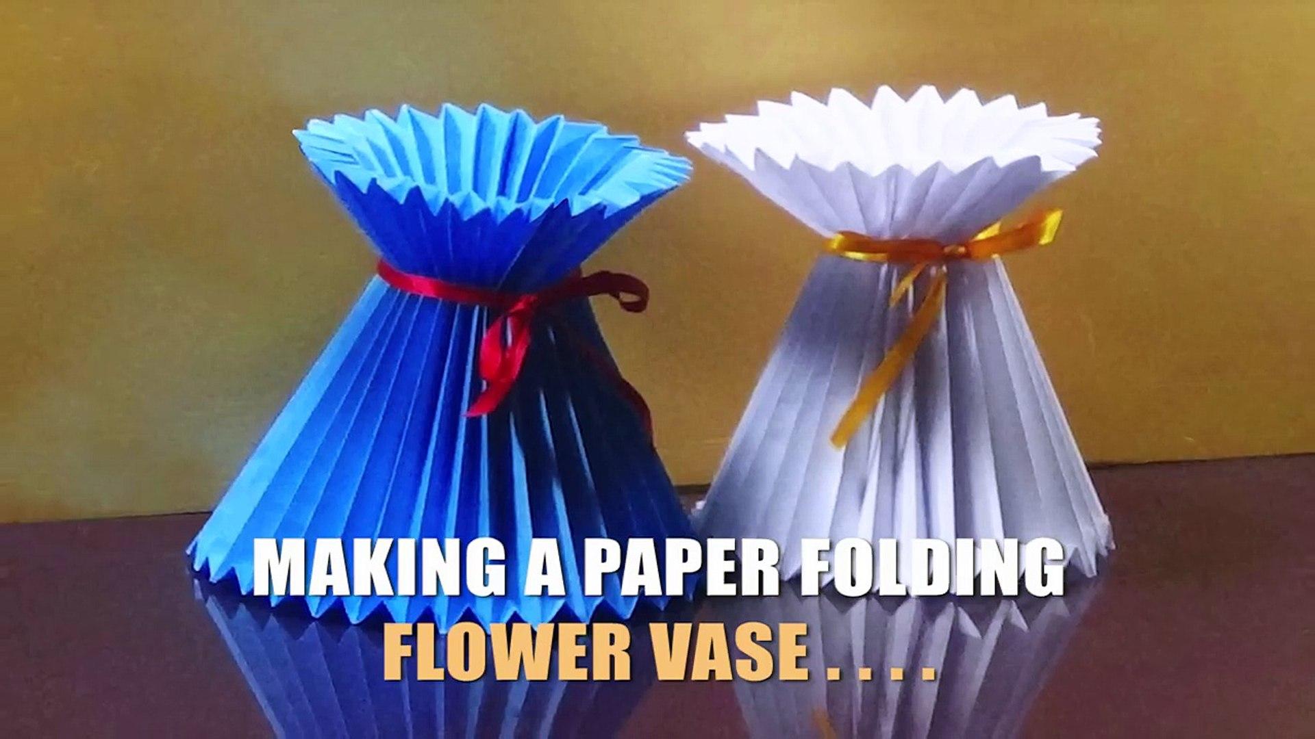 Simple 3D Origami Vase - Tutorial • Art Platter   1080x1920