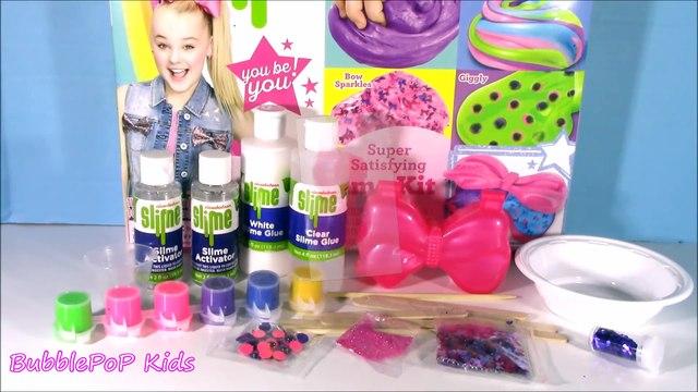 Nickelodeon JoJo Siwa SLIME Kit! DIY Rainbow & Giggly Slime! JoJo Bow Slime Storage Case! FUN