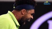 """Open d'Australie 2018 - Jo-Wilfried Tsonga, sa remontada : """"C'est hyper positif de vivre ces émotions là"""""""