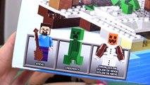 Minecraft Esconderijo na Neve de Lego Brinquedos - The Snow Hideout Minecraft Toys